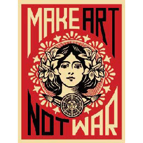 Make Art Not War Poster (4246)